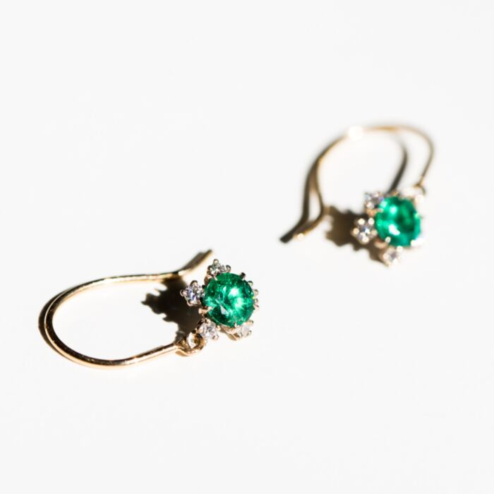 Juniper Emerald Earrings