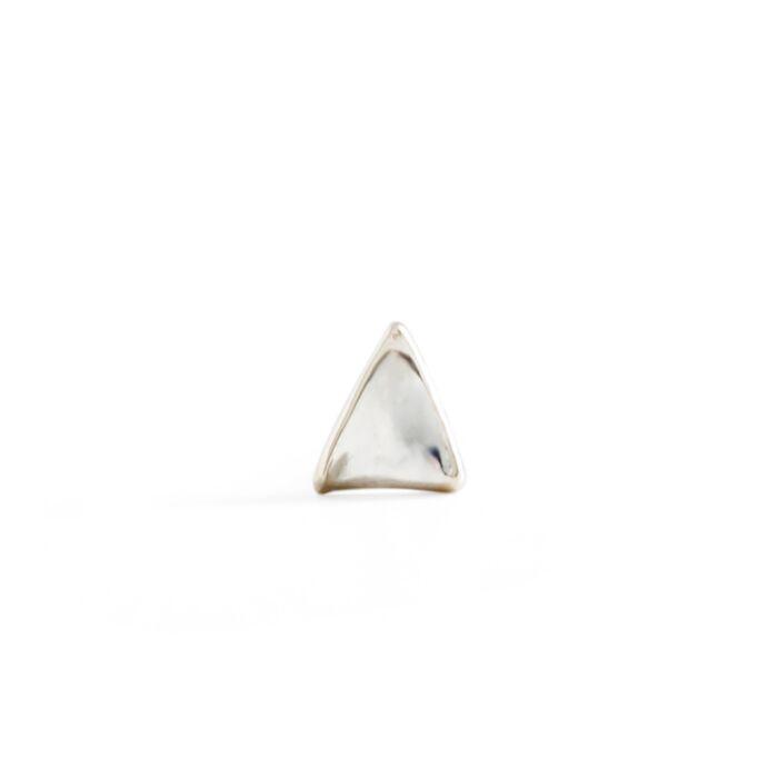 Kitten Ear Stud, silver (single) image