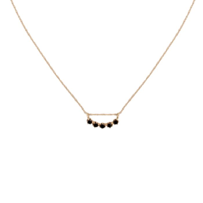 Majesty Curve Necklace, Black Diamond