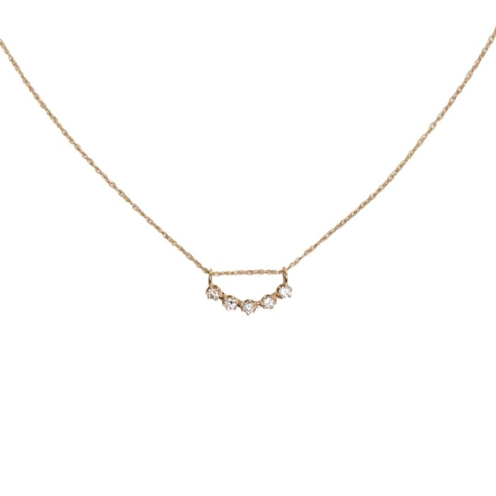 Majesty Curve Necklace, White Diamond