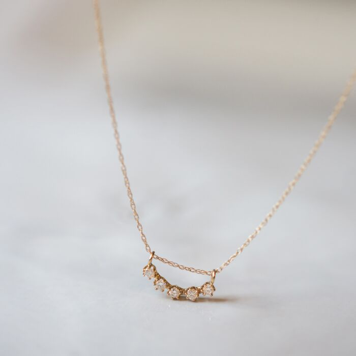 Majesty Curve Necklace, White Diamond image