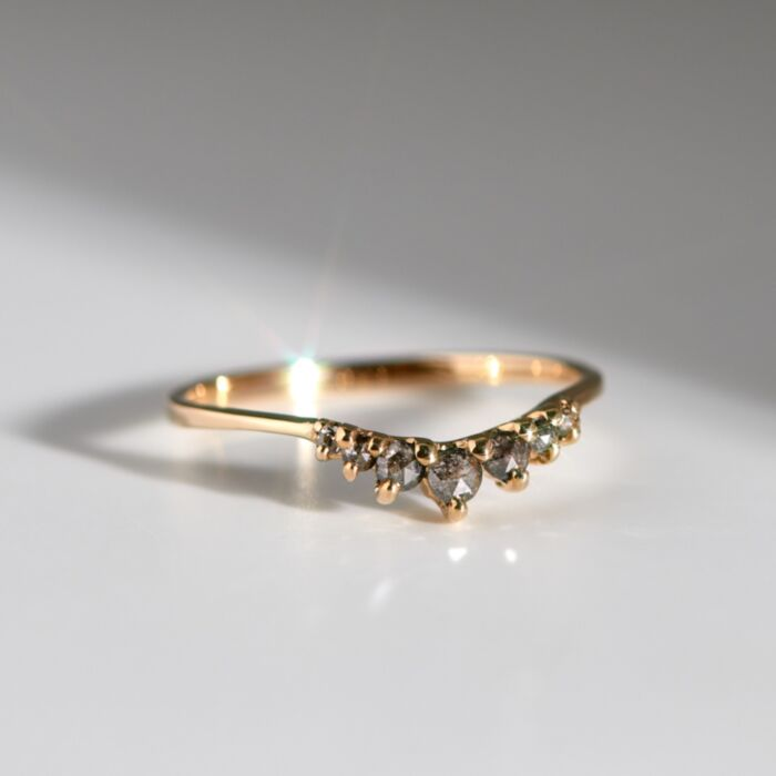Beacen Ring, Salt and Pepper Diamond image