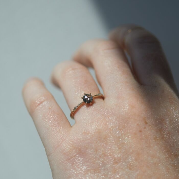 Ilona Ring, Salt & Pepper Diamond image