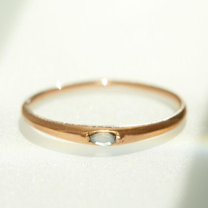 Moondew Signet Ring image