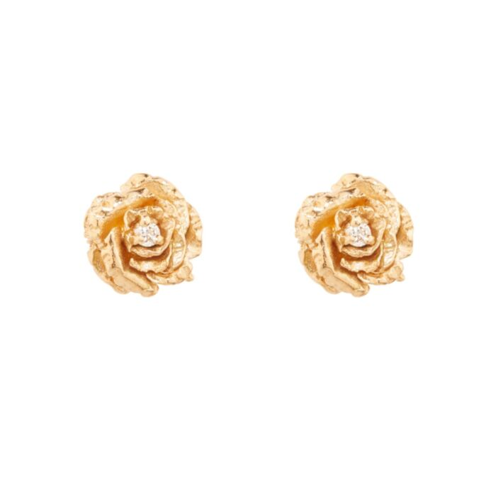 Dewy Diamond Rose Stud (single)