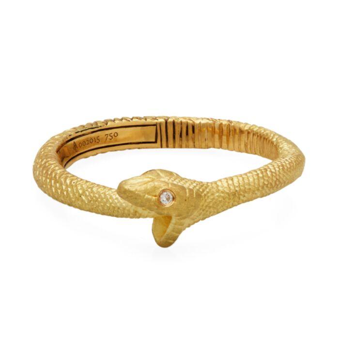 Gold Ouroboros Snake Ring image