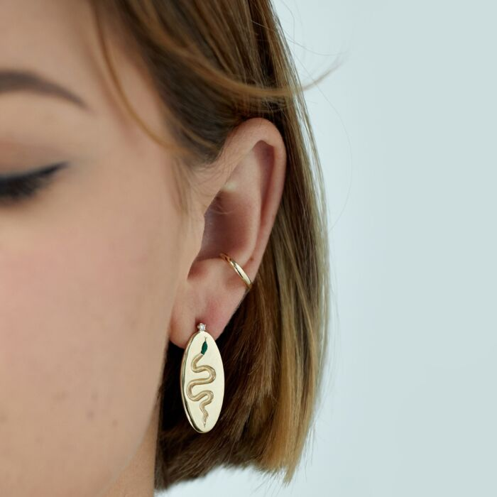 Serpent Coin Earrings (Pair)