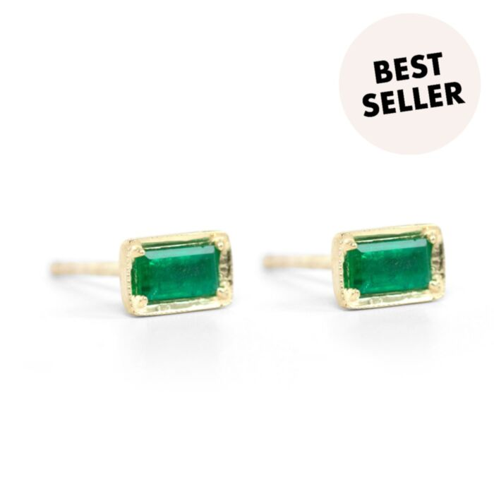 Leone Emerald Earrings