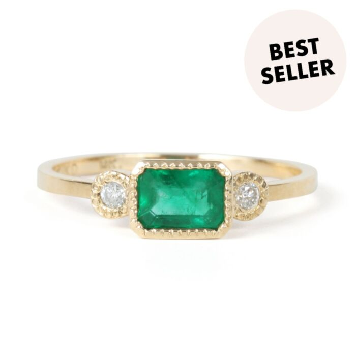 Lexie Emerald Ring