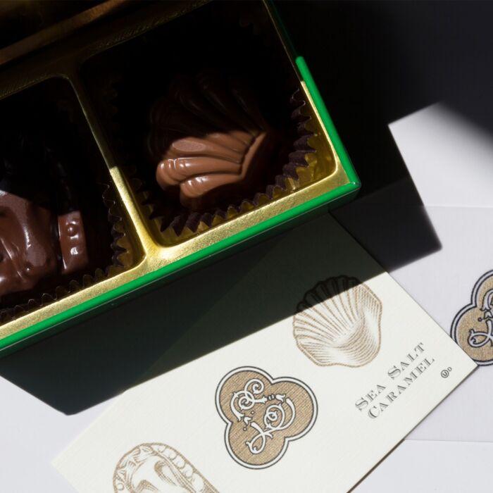 Jewel Box Chocolate Tin - Kelly Green