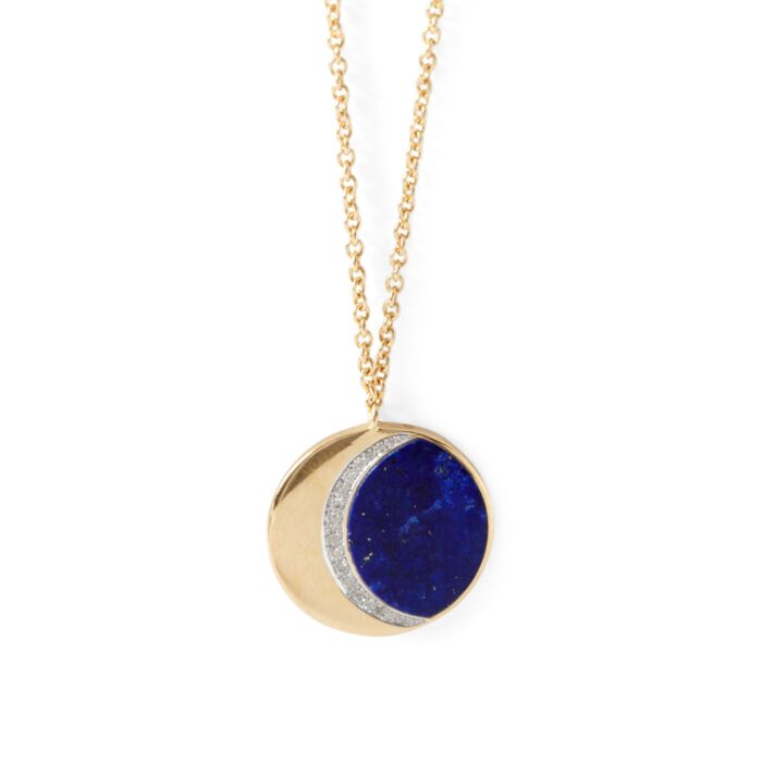 Lapis Moon Phase Necklace