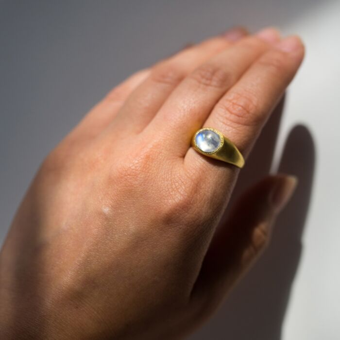 Moonstone Roz Ring