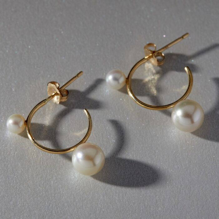 Harlequin Pearl Hoop Earrings image