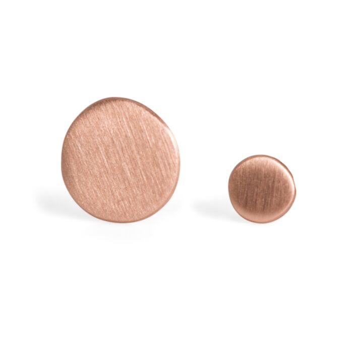 Dot Stud Earring, rose gold (single)