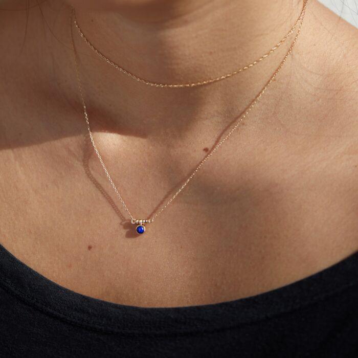 Lapis Bar Necklace image