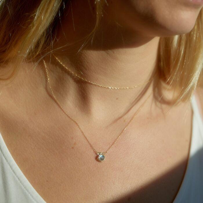 Rainbow Moonstone Necklace image