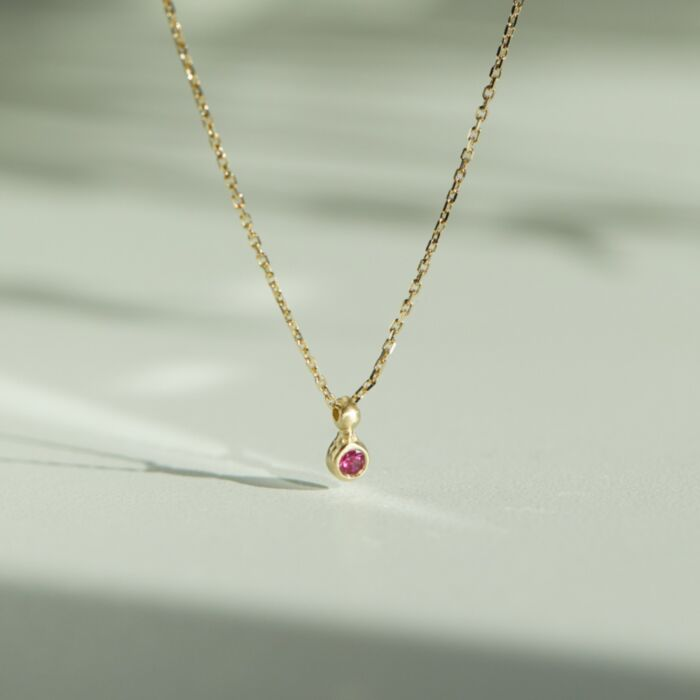 Ruby Spark Necklace