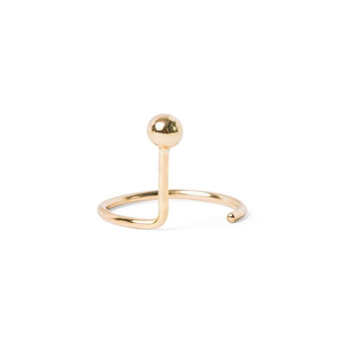 Ear Nut Earring, Yellow Gold (SINGLE) image