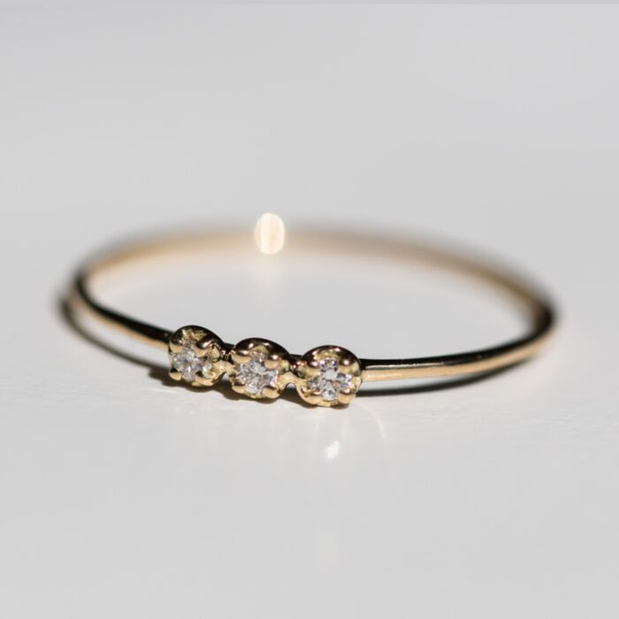 Orion White Diamond Ring