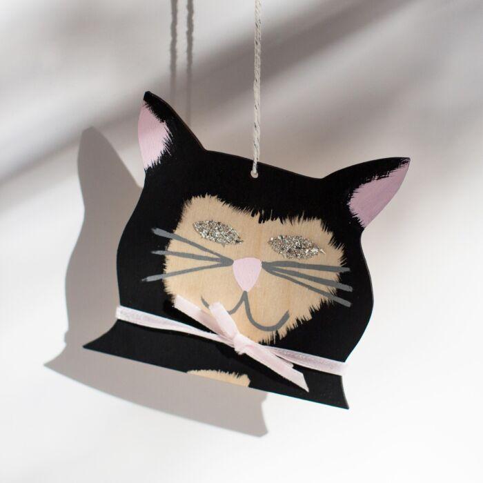 Diamond-Eyed Kitten Decoration