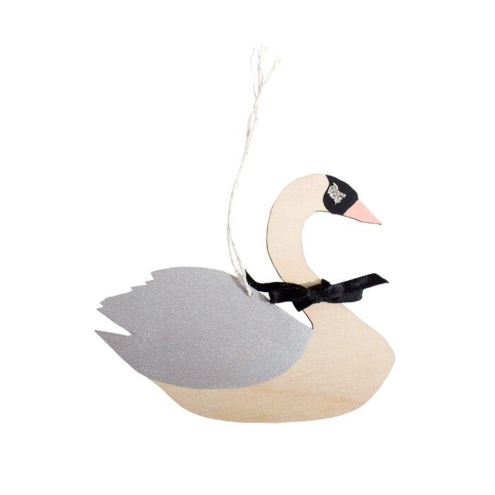 Gliding Swan Decoration, Silver