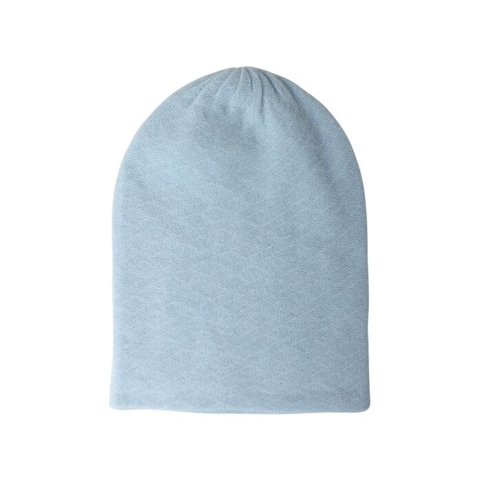 Cashmere Slouch Hat, Baby Blue