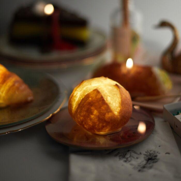 Dinner Roll Lamp