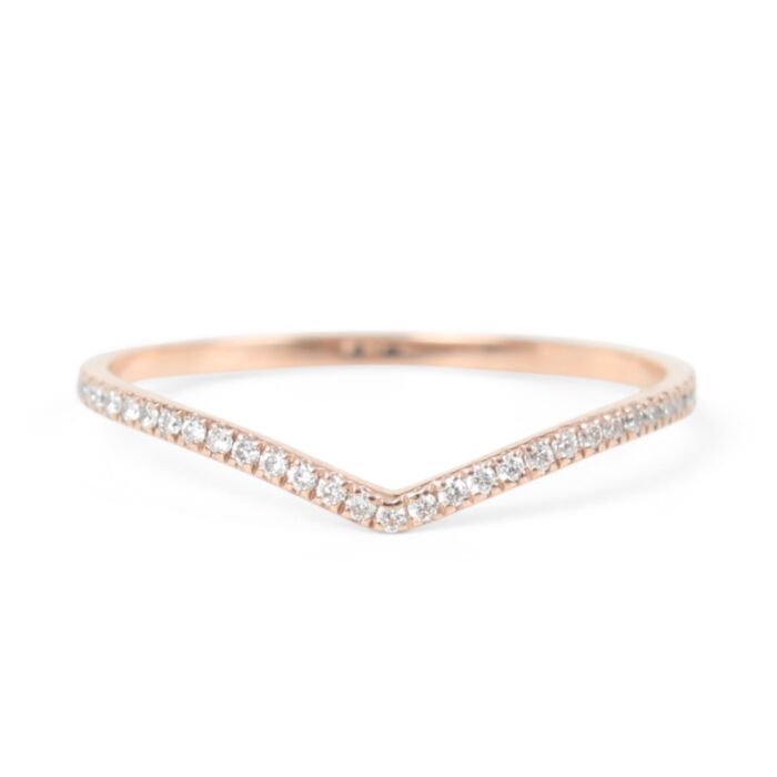 Fairy Light Eternity Band, curved