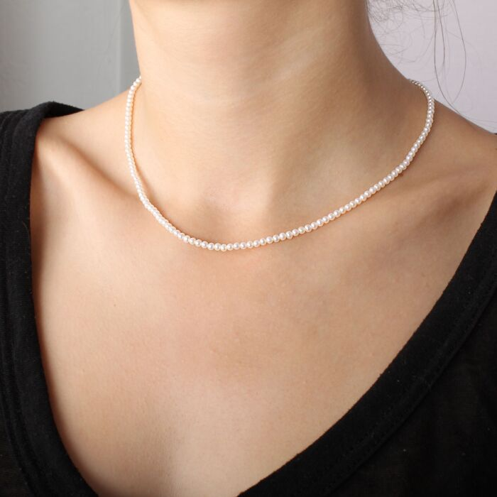 Serpentine Delilah Necklace, Pearl