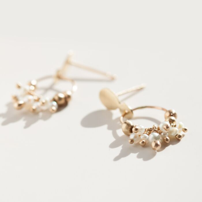 Pearl Cluster Earrings image