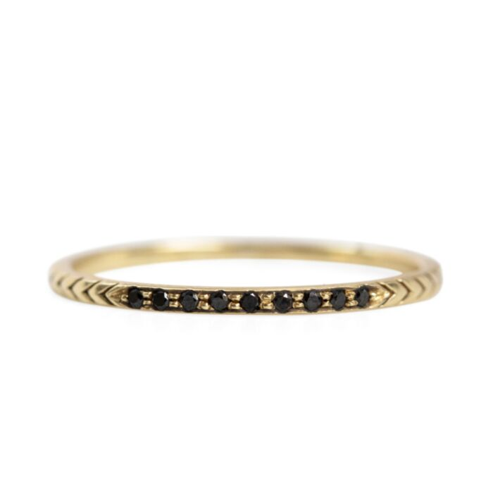 Petite Arrow Band, Black Diamond image