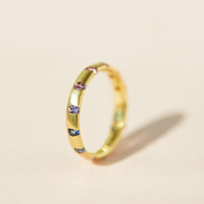 Celeste Crystal Ring, Rainbow image