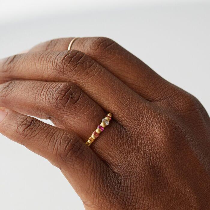 Diamond Rainbow Ring image