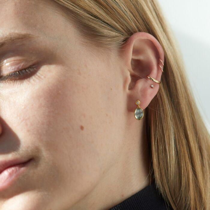 Moonlit Mango Moonstone Earrings image