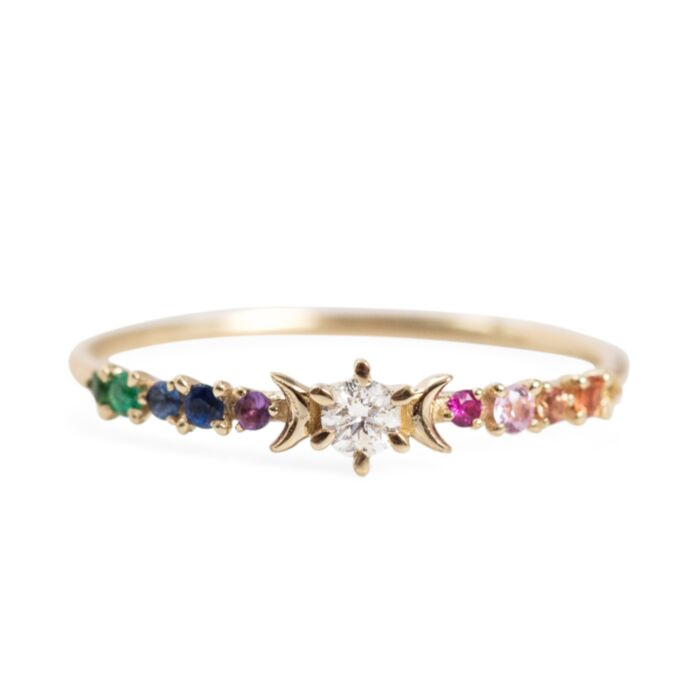 Rainbow Stardust Ring image