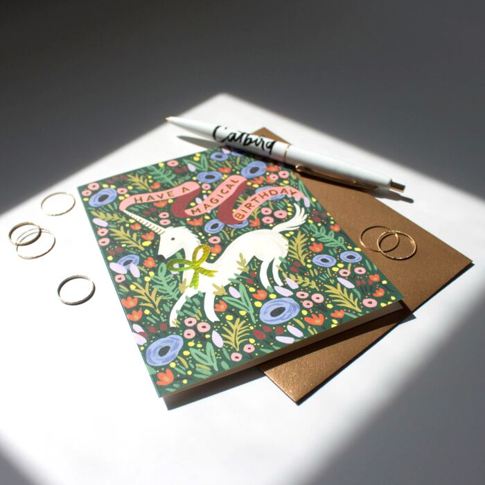 Magical Unicorn Birthday Card image