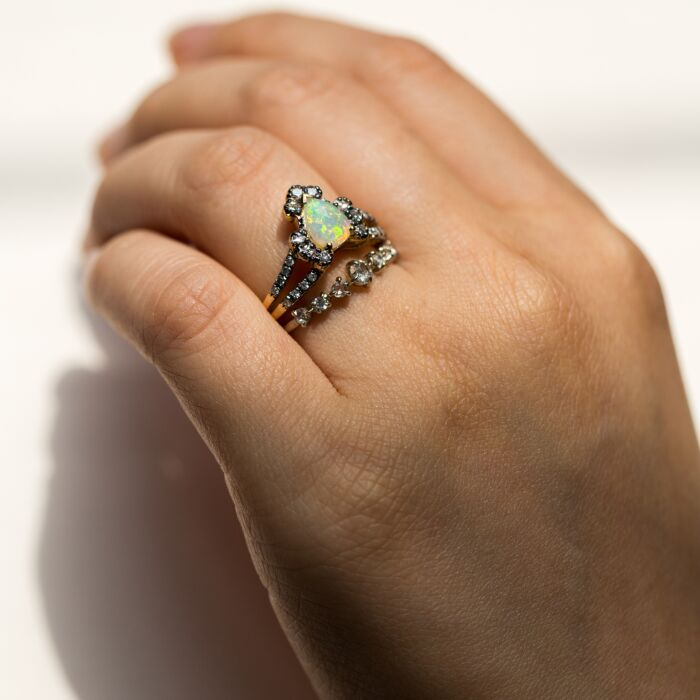 Ritual Solitaire Ring, Opal image