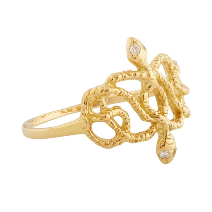 Victorian Double Serpent RIng image