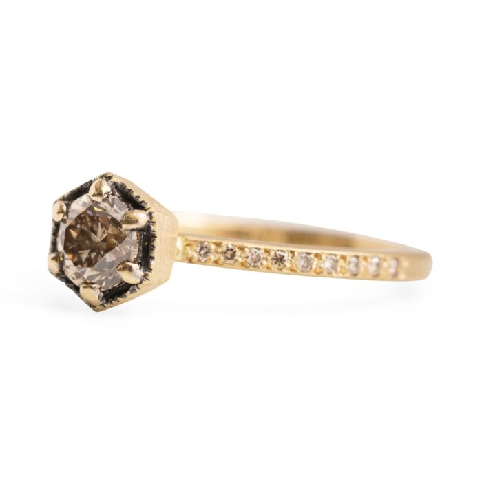 Hexagon Ring Supreme, Champagne Diamond image