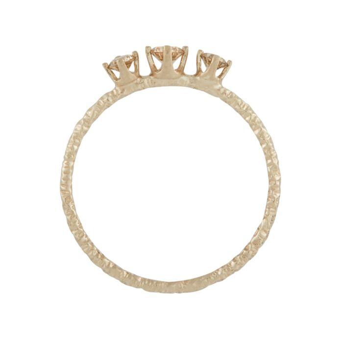 Homespun Ring, Three Champagne Diamond image