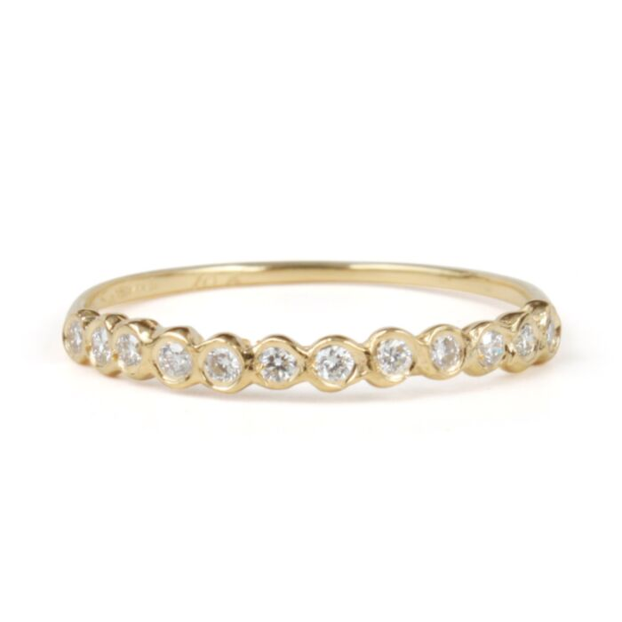 Demi Circlet Ring, White Diamonds