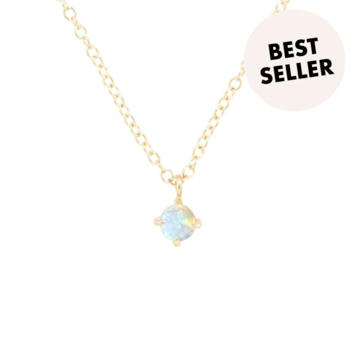 Sleeping Beauty Necklace, Opal Solitaire