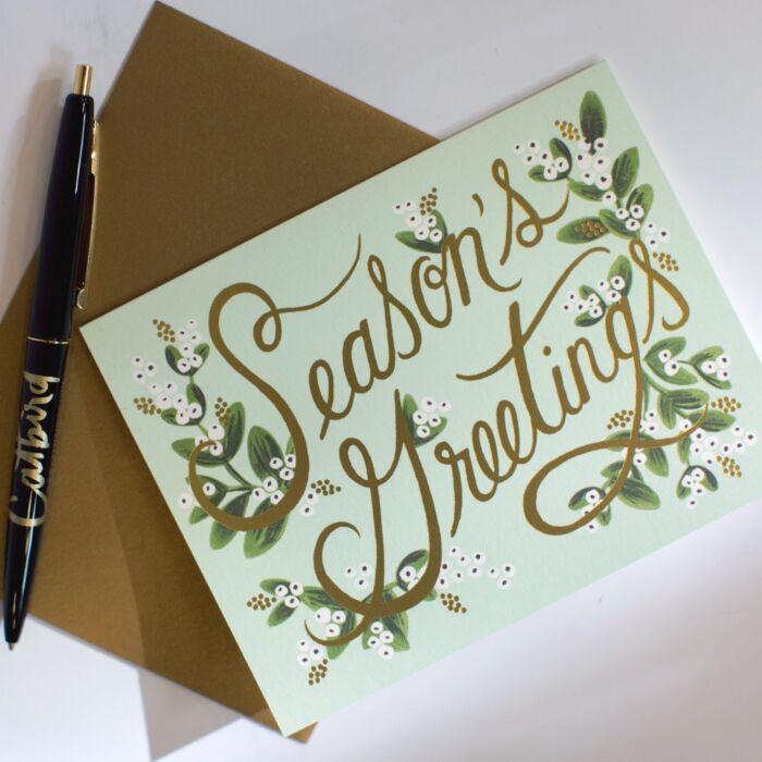Mistletoe Season's Greeting Card