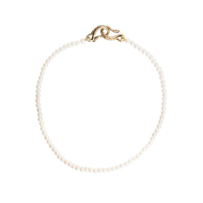 Serpentine Delilah Bracelet, Pearl