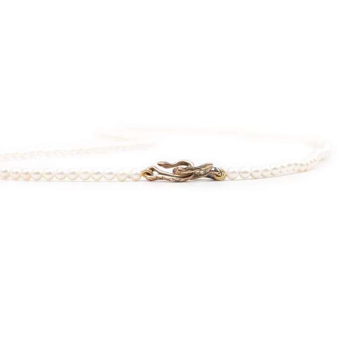 Serpentine Delilah Necklace, Pearl  image