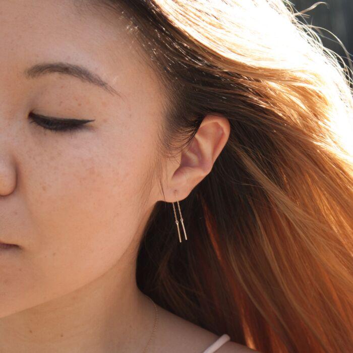 Short Stitch Earring (single) image