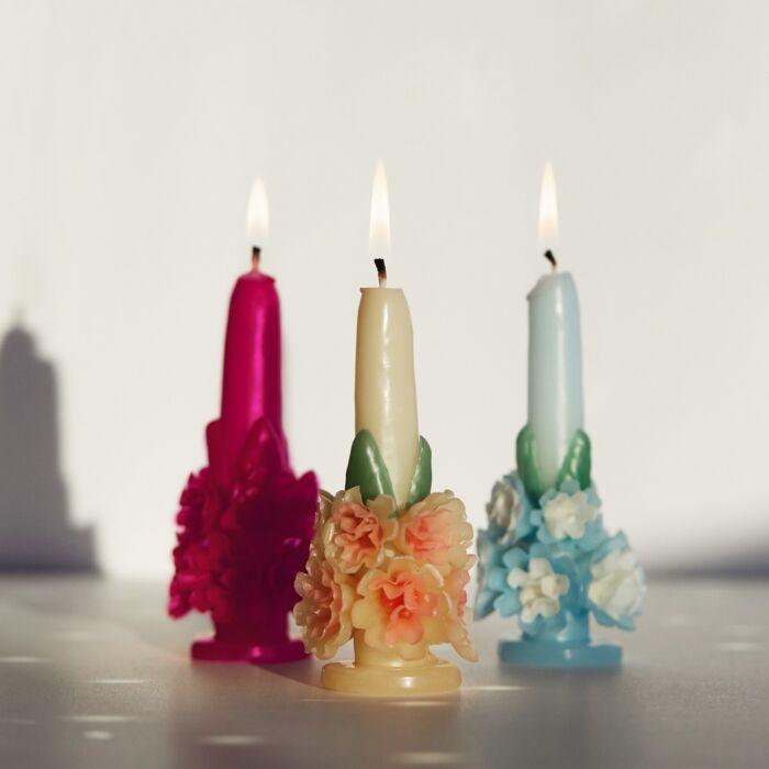 Flora Candle, Fuchsia image