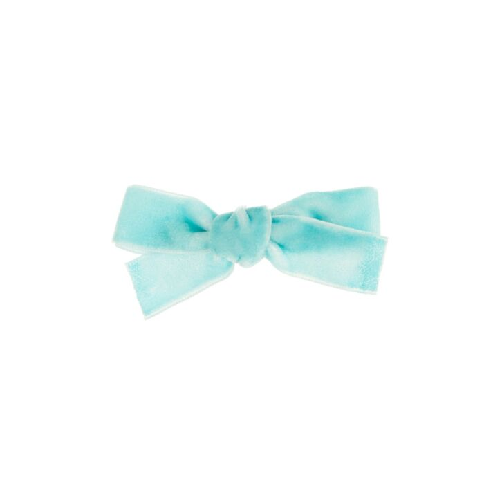 Alice's Velvet Bow Hair Clip, Blue