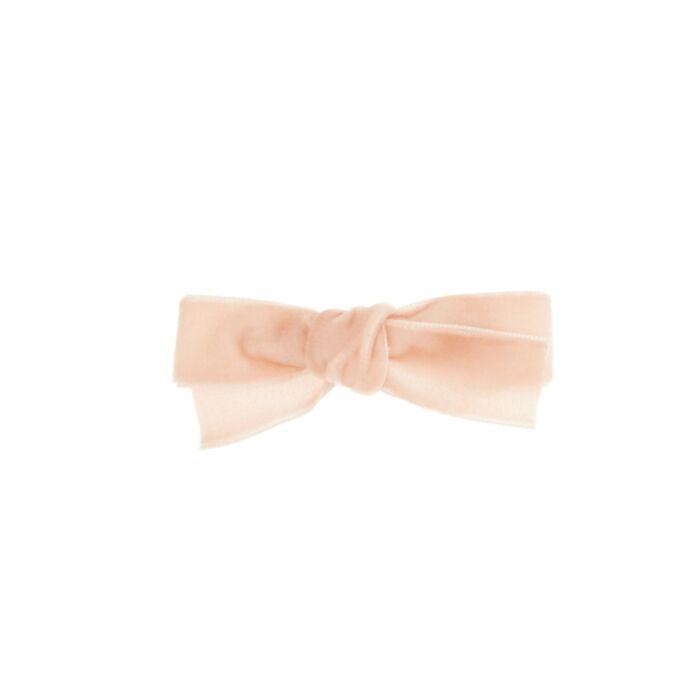 Alice's Velvet Bow Hair Clip, Pale Pink
