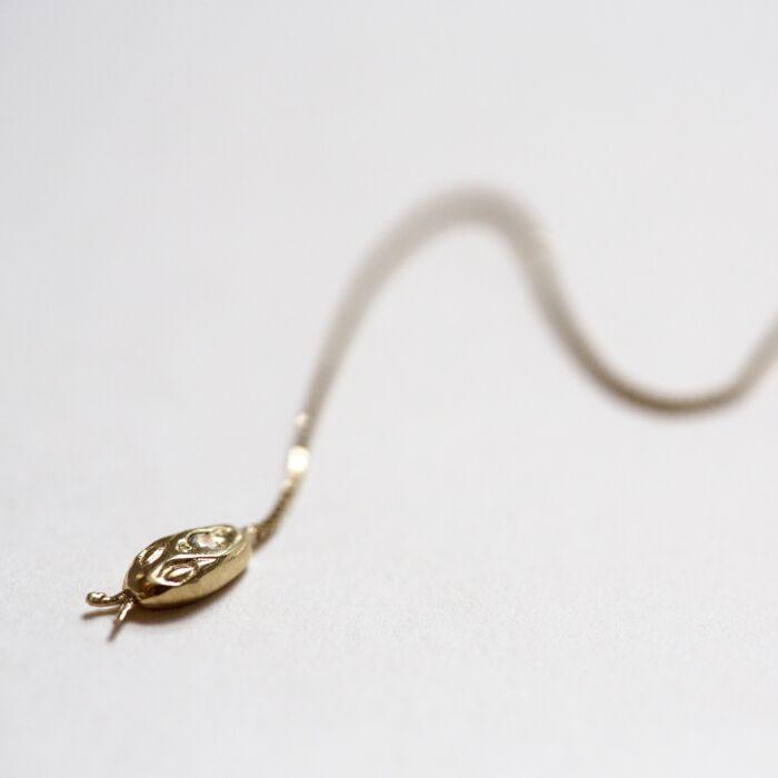 Diamond Snake Threader Earring image